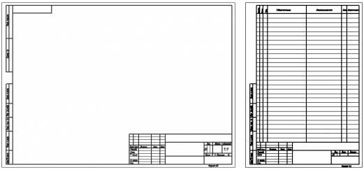 Рамка А3 со штампом для AutoCAD скачать  вертикальная и