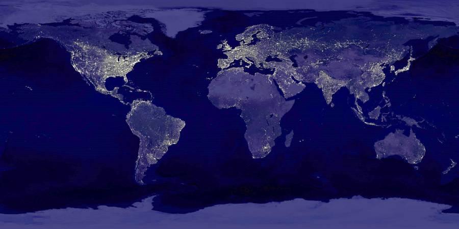 Карта размещения известных